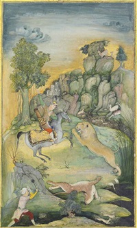 a lion hunt by anonymous-indian-mughal (16)
