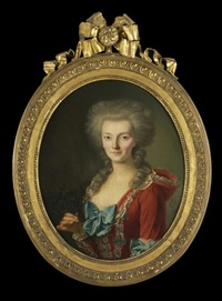 portrait of a lady by françois bruno deshays de colleville