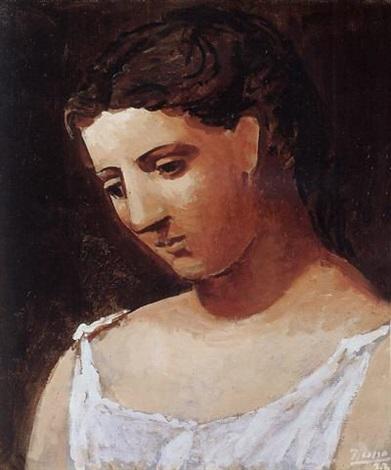 Buste de femme à la chemise by Pablo Picasso on artnet