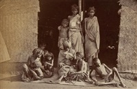 five studies of famine victims, madras (5 works) by william willoughby hooper
