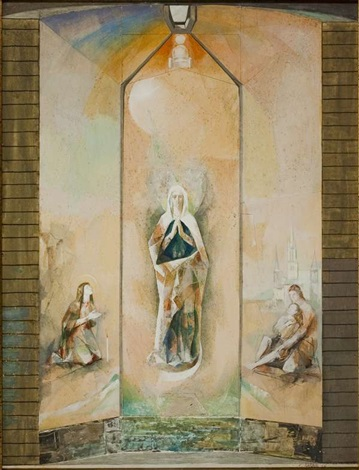 maria madre di misericordia bozzetto per cappella by carlo maria mariani