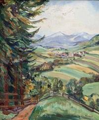 dorf in bayerischer landschaft by elfriede mäckel