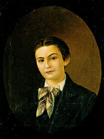 portrait of a young boy by georgios avlichos
