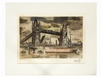 tower bridge london by bernard buffet
