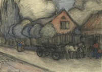 The Smithy at Czeliewy, 1897