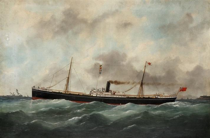 le navire imaum près des côtes by marie edouard adam