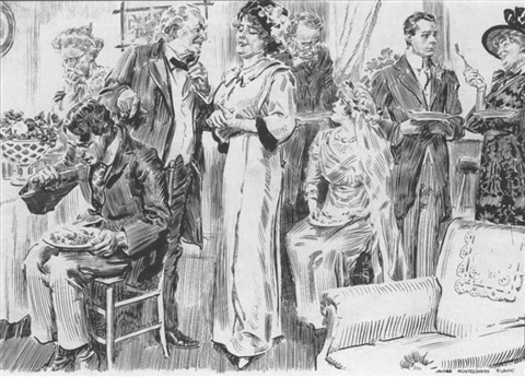 Goings On At A Victorian Wedding Reception By James Montgomery Flagg