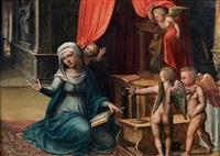 la vierge de l'annonciation avec des anges by amico aspertini