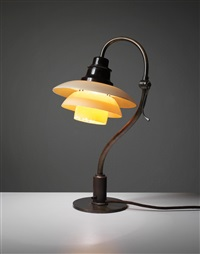 adjustable desk lamp, type 2/2 shades by poul henningsen
