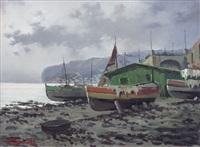 barche sulla spiaggia by ezelino briante