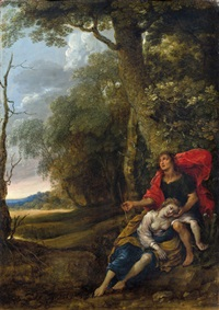 kephalus und prokris in einer landschaft by frans wouters