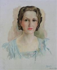 portrait de jeune femme by ivan babij