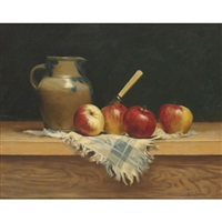 pitcher with apples by milne ramsey