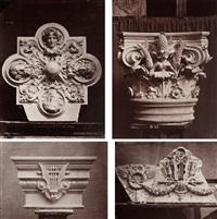 le nouvel opéra de paris, sculpture ornementale (4 works) by louis emile durandelle