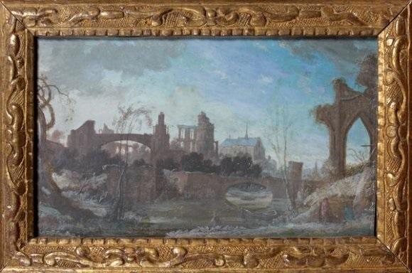 bord de leau avec ruines déglises by pierre antoine patel