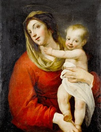 the madonna and child by jacques blanchard