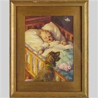 baby sleeping by bessie pease gutmann