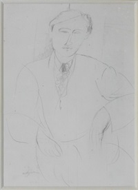 portrait de jacques lipchitz by amedeo modigliani