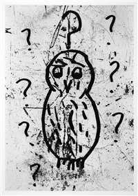 owl, pl. vii by donald baechler