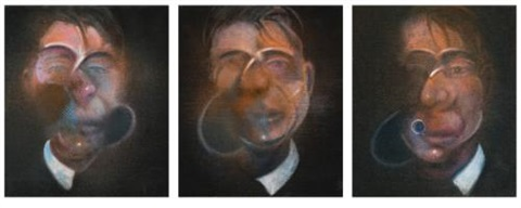 three studies for a self-portrait (3 works) by francis bacon