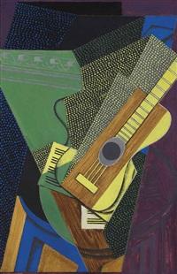 guitare sur une table by juan gris