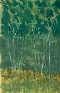 young birches by milton avery