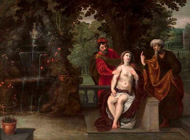susannah und die beiden alten by jan brueghel the younger