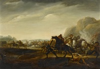 a military skirmish by abraham van der hoeff