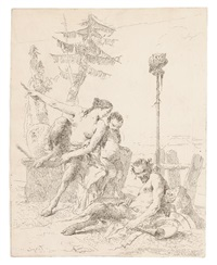 the happy satyr and his family by giovanni battista tiepolo