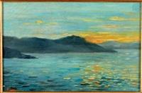 coucher de soleil by maximilien luce