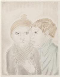 deux adolescents (from les enfants) by léonard tsuguharu foujita