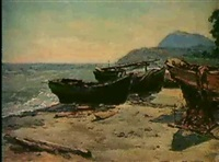 les barques vertes by nicolay andretsov