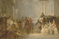 the entrance of prince charles edward stuart to edinburgh (sketch) by thomas duncan