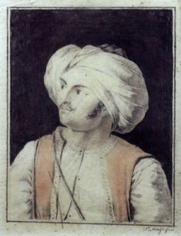 portrait dottoman by jacques etienne victor arago
