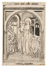 the madonna and child with the abbot ludwig von churwalden (2 works) by wolfgang aurifaber
