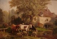 vaches et moutons by raymond desvarreux-larpenteur