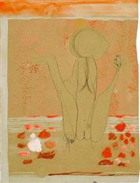 la donna in der rosenlaube (+ o schlange, o schwalbe; 2 works) by gerhard (gerhard ströch) altenbourg