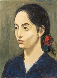 head of a girl by raphael soyer