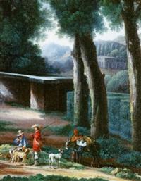 le repos de chasseurs sous les arbres by angeluccio