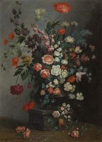 blumenbouquets in steinernen vasen auf einem postament (pair) by anonymous-german (18)