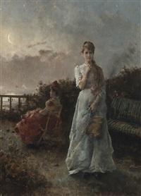 un soir à la mer by alfred stevens