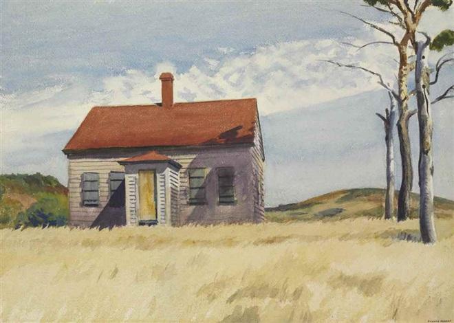 House with Dead Trees by Edward Hopper on artnet