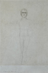 portrait de rudolf noureev by ilse voigt