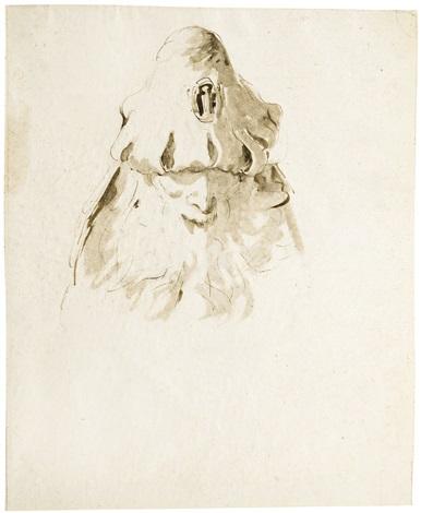 Head Of An Old Man Looking Down By Giovanni Battista Tiepolo On Artnet