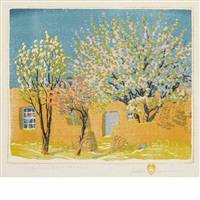 spring, new mexico by gustave baumann