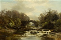 on the river almond by james faed the younger