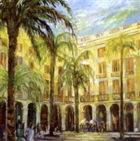 place de real, barcelona by pauline merry