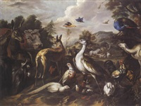 les animaux entrant dans l'arche by sinibaldo scorza