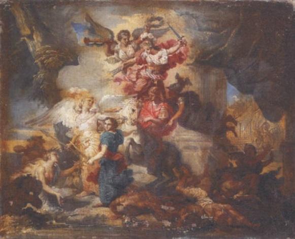 allégorie des victoires de la france by jean baptiste corneille