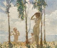 three nymphs by frederick william leist